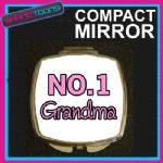 NUMBER ONE 1 GRANDMA COMPACT LADIES METAL HANDBAG GIFT MIRROR